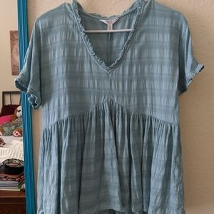 Small blue Time and Trubabydoll top